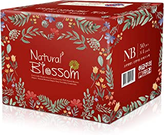 Natural Blossom - Baby Disposable Diapers Hypoallergenic for Sensitive Skin, Size 1 (up to 11 lbs), Count 200