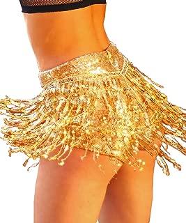 Women's Sequins Tassel Skirts Shorts Booty Dance Festival Bottoms