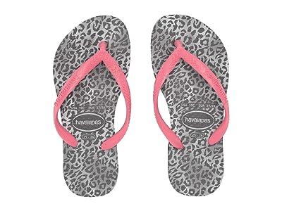 Havaianas Kids Slim Leopard Flip-Flop (Toddler/Little Kid/Big Kid) (Black) Girl