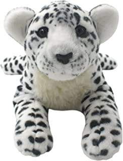 TAGLN Lifelike Stuffed Animals Toys Cheetah Plush Tiger Panther Lioness Pillows (White Leopard, 19 Inch)