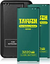 TAYUZH Galaxy Note 4 Battery   2X 3220mAh Replacement Li-ion Battery with Charger Compatible with Samsung Galaxy Note 4 N910 N910U N910V N910A N910T N910F N910P Spare Battery- 24 Month Warranty
