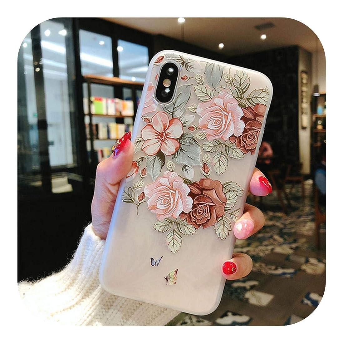 また明日ねメイトどっちKiik 花シリコーン電話ケースiphone 7 8 6 6 sプラスXSマックスXRローズ花ケースiphone 11プロマックスX 5 SEソフトTPUカバー-7314-For iPhone 6 6S
