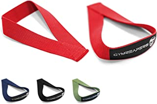 Gymreapers Olympic Lifting Straps for Weightlifting, , Clean, Powerlifting, Strongman, Deadlifts - Durable Cotton with Rei...