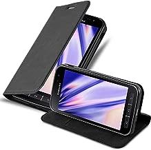Cadorabo Hülle für Samsung Galaxy Xcover 4 - Hülle in Nacht SCHWARZ – Handyhülle mit Magnetverschluss, Standfunktion und Kartenfach - Case Cover Schutzhülle Etui Tasche Book Klapp Style