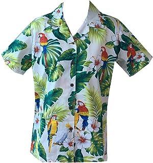 281eb1f94b6 Made in Hawaii! Women s Parrot Hibiscus Hawaiian Luau Cruise Camp Shirt