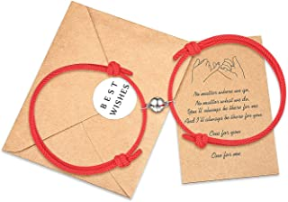 Tarsus Pinky Promise Couple Bracelets Set Valentine's Day Morse Code Jewelry Gifts for Girlfriend Boyfriend His Her