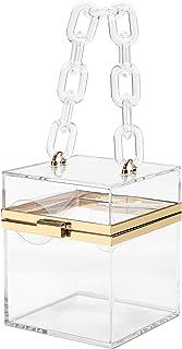 Acrylic Handbag Luxury Transparent Clear Clutch Bag for Women Evening Bag Handbag Purse Crossbody Shoulder Bag Party Prom