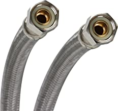 Fluidmaster B6F16 Faucet Connector, Braided Stainless Steel - 3/8 Female Compression Thread x 3/8 Female Compression Thread, 16-Inch Length