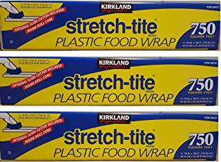 Kirkland Signature Stretch Tite Plastic Food Wrap uZzDke, 3 Packs (750 Sq ft Food Wrap)