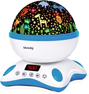 Moredig Baby Projector with Timer and Remote Built-in 12 Light Songs 360 Degree Rotating..