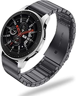 Fintie for Gear S3 / Galaxy Watch 46mm Bands, 22mm Solid Stainless Steel Metal Bracelet Strap Replacement Wrist Band for Samsung Gear S3 Frontier/S3 Classic Smartwatch - Black