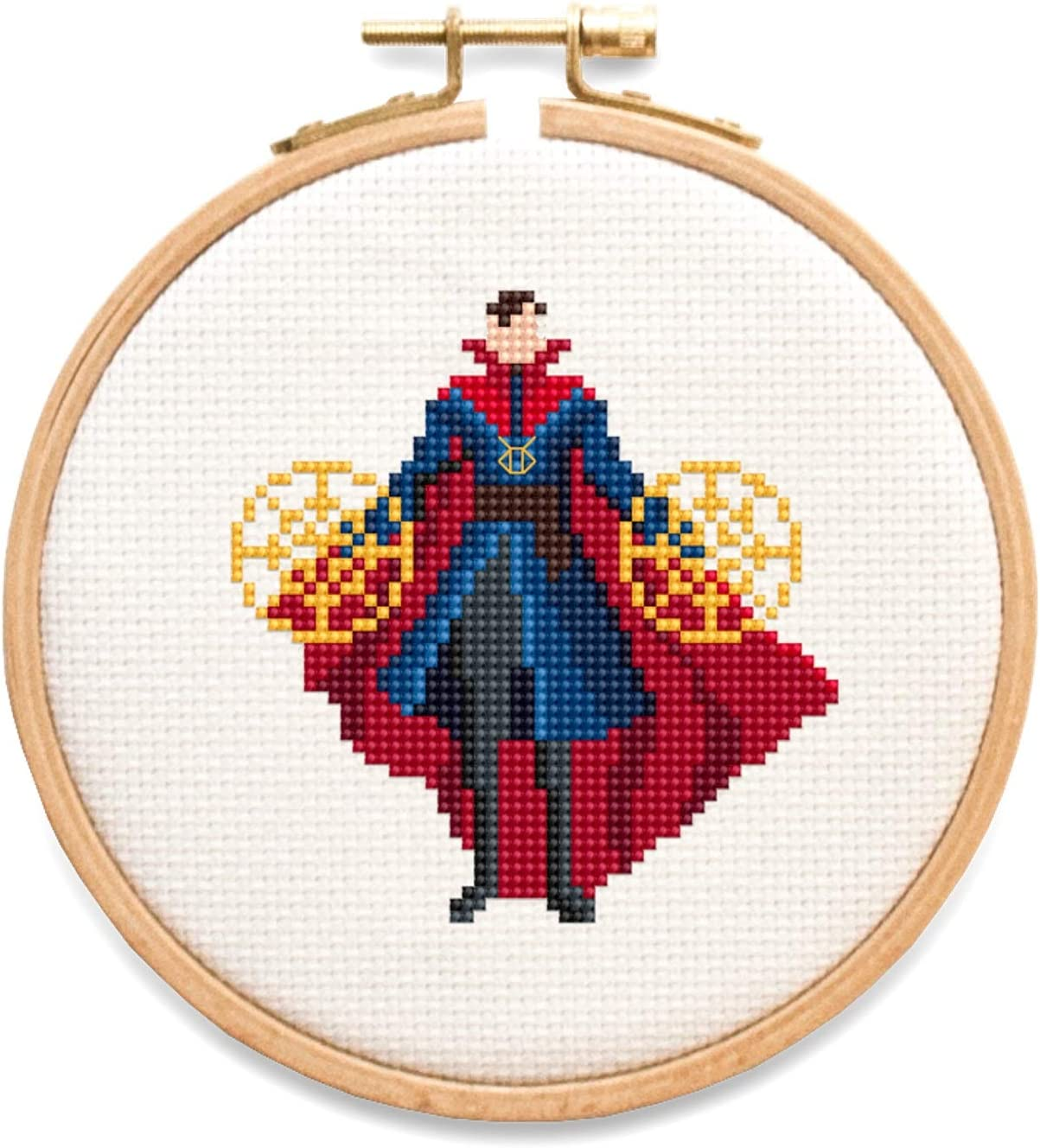 safety Doctor Strange Counted Cross Max 57% OFF Stitch Kit 14 3. Count Aida White