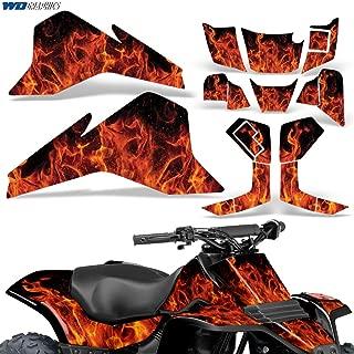 Suzuki LT80 87-06 Graphic Kit ATV Decals Sticker Quadsport LT 80 FLAMES ORANGE