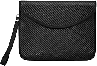 Syscudo Non-Window Faraday Bag RFID Signal Blocking Bag Shielding Pouch Wallet Case for Phones - Device Shielding for Travel & Data Security and Anti-Hacking & Anti-Tracking Assurance (Black, 1 Set)