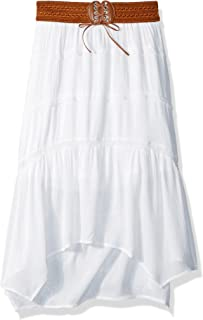 Amy Byer Girls' Big Gauze Skirt with Belt