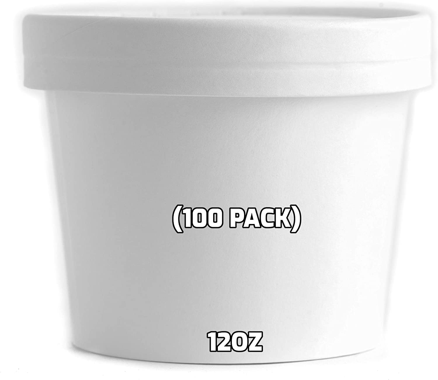 12 oz Disposable White Chicago Mall Paper Soup Half 100 - Alternative dealer Containers Count