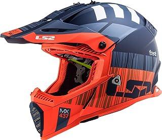 LS2 MX437 Fast Evo XCode Motocross Helm Orange/Blau M 57/58