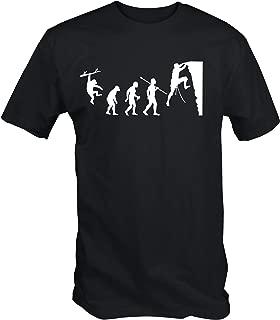 Hombre Evolución de la Escalada Camiseta