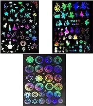 レジン 封入用 イラストシート 透明シート デコ パーツ 素材 ホログラム 魔方陣 アリス 宇宙 3枚セット