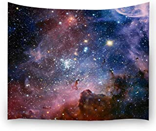 Ihome888 Space Star Tapestry, Outer Universe Galaxy Tapestries Wall Hanging for Bedroom Living Room Dorm, 80 Inch by 60 Inch, Colorful