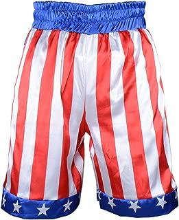 Kids Boxing Costume Rocky Balboa American Flag Shorts Italian Stallion Boys Wrestle Sports Trunks