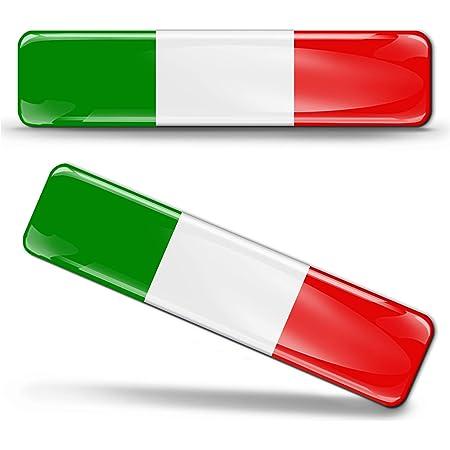 Aufkleber A4 Italien Hand Fahne bumper sticker  car flag Flagge mano italia