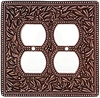 Vicenza Designs WPJ7003 San Michele Double Outlet Jumbo Wall Plate, Antique Copper