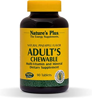NaturesPlus Adult's Chewable Multivitamin - 90 Vegetarian Tablets - Pineapple Flavor - Natural Whole Foods Supplement for ...