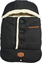 JJ Cole - Urban Bundleme, Canopy Style Bunting Bag to Protect Baby from Cold and Winter Weather in Car Seats and Strollers, Blackout, Infant