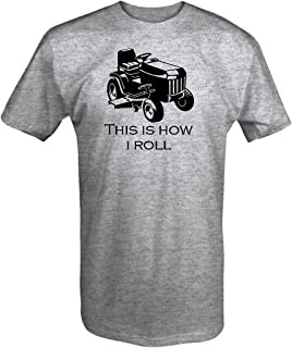 One Stop Services This is How I Roll Riding Lawn Mower Grass Cutting Landscaping T Shirt XL