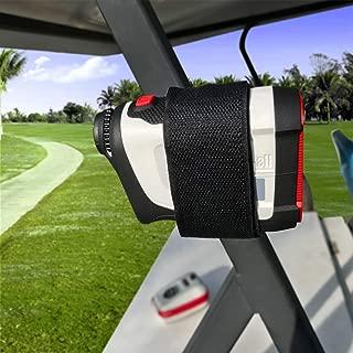 HomeMount Range Finder Magnetic Holder for Golf Cart - Easily Stick Rangefinder Magnet Strap Leather Case for Towel Holder Hanger …