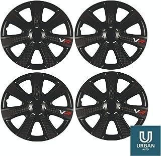 The Urban Company Wheel Trim Cover Chromia 14 To Fit Fiat 500 X Black Carbon Set Of 4