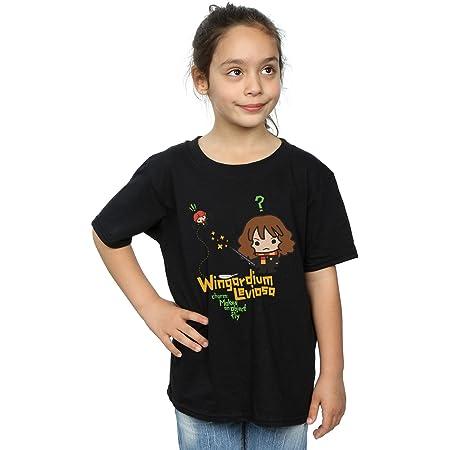 HARRY POTTER niñas Hermione Granger Wingardium Leviosa Junior Camiseta 12-13 Years Negro