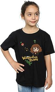 HARRY POTTER niñas Hermione Granger Wingardium Leviosa Junior Camiseta 9-11 Years Negro
