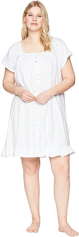 Plus Size Jersey Short Nightgown