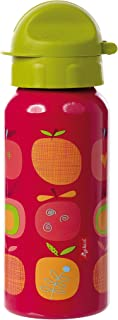 Sigikid - Botella infantil con Cierre de Rosca, Multicolor (Rojo/Verde), 400 ml