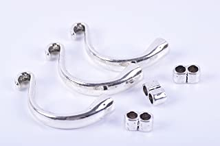 KONMAY 5 Sets Half Cuff Bangle Clasp for Bracelet Wrapping (Antique Silver)