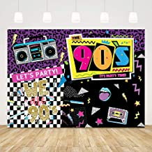 Back to 90's Backdrops for Parties I Love The 90s Theme Background 7x5ft 90s Hip Hop Party Decorations 90's Birthday Party Theme Favors Disco Rock Music Photo Props Let's Party Retro Photo Backdrop