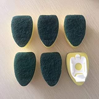 Carockoo Heavy Duty Sponge Top Replacement Soap Dish Wand Sponge Refills for Kitchen Cleaning