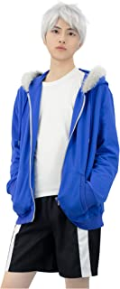 C-ZOFEK Sans Cosplay Blue Jacket Hoodie with Plush and Shorts