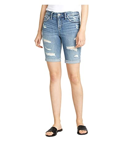 Silver Jeans Co. Suki Mid-Rise Curvy Fit Bermuda Shorts L53940SGX237 (Indigo) Women