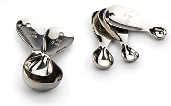 RSVP International MOD-S Measuring Spoons, One Size, Multi Color