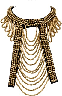 Women's Egyptian Tribal Ethnic Beaded Bib Collar Statement Necklace