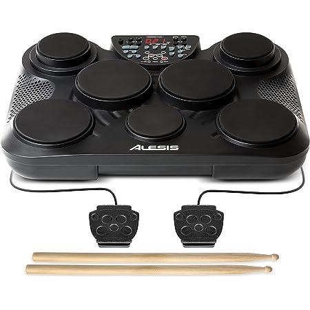 Alesis Compact Kit 7 – Batterie Électronique Portable avec 7 Pads Sensibles au Toucher, 265 Sons de Percussions, Sortie USB-MIDI, Alimentation sur Pile ou Secteur et Baguettes Incluses