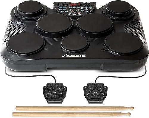 Alesis Compact Kit 7 – Batterie Électronique Portable avec 7 Pads Sensibles au Toucher, 265 Sons de Percussions, Sort...