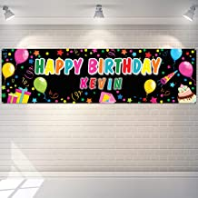 x2 Personalised Birthday Banner Balloon Design Adult Party Decoration Poster 5