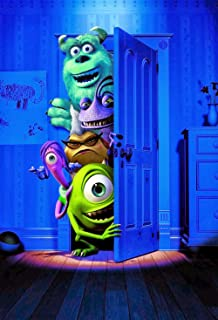 Eric 5x7ft Monsters Inc Birthday Party Supplies Photography Backdrop Kids Photo Background Children Theme Birthday Party Decoration Wallpaper Photo Shooting Props 220