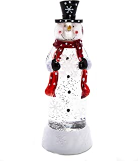 ReLive Acrylic Snowman with Colored Lights and Snow Glitter