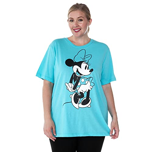 f36b031127e5f Disney Plus Size Women s T-Shirt Minnie Mouse   Mickey Print Navy