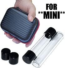 2 x MINI Twisty Glass Tubes with Rubber Caps & Zipper Pouch Case